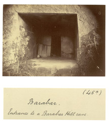 Entrance to one of the Barabar Hill caves